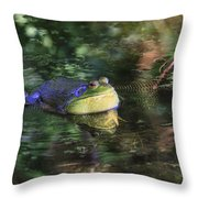 Good Vibrations Throw Pillow by Donna Kennedy