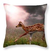 Goodbye Bambi Throw Pillow by Bill Stephens
