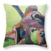 Goofball Throw Pillow by Kimberly Santini