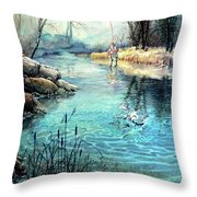 Gotcha Throw Pillow by Hanne Lore Koehler