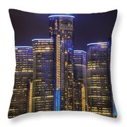 Gotham Detroit Throw Pillow by Nicholas  Grunas