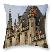 Gothic Bruges Throw Pillow by Carol Groenen