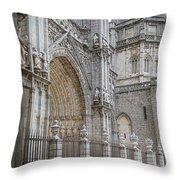 Gothic Splendor Of Spain Throw Pillow by Joan Carroll