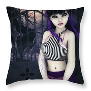 Gothic Temptation Throw Pillow by Jutta Maria Pusl