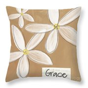 Grace Throw Pillow by Linda Woods