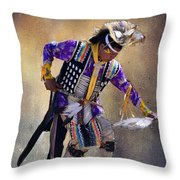 Graceful And Strong Throw Pillow by Barbara Manis