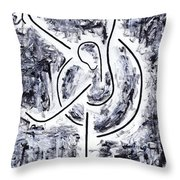 Graceful Swan Throw Pillow by Kamil Swiatek