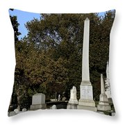 Graceland Chicago - The Cemetery of Architects Throw Pillow by Christine Till