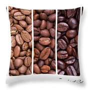 Grades Of Coffee Roasting Throw Pillow by Jane Rix