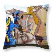 Graffiti Art Curitiba Brazil  19 Throw Pillow by Bob Christopher