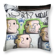 Graffiti Art Rio De Janeiro 5 Throw Pillow by Bob Christopher