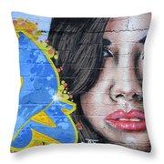 Grafitti Art Calama Chile Throw Pillow by Bob Christopher