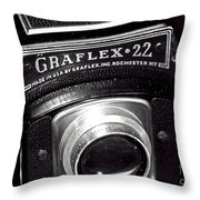 Graflex 22 Throw Pillow by John Rizzuto