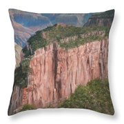 Grand Canyon North Rim Throw Pillow by David Stribbling