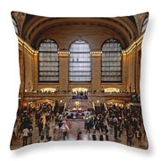 Grand Central Throw Pillow by Andrew Paranavitana