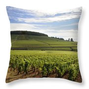 Grand Cru And Premier Cru Vineyards Of Aloxe Corton. Cote De Beaune. Burgundy. Throw Pillow by Bernard Jaubert