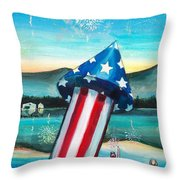 Grand Finale Throw Pillow by Shana Rowe Jackson