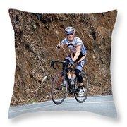Grand Fondo Bike Ride Throw Pillow by Susan Leggett