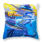 Grand Slam baitball Throw Pillow by Carey Chen