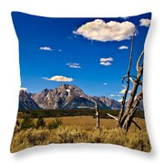 Grand Tenton Overlook Throw Pillow by Robert Bales