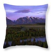 Grand Tetons Throw Pillow by Chad Dutson