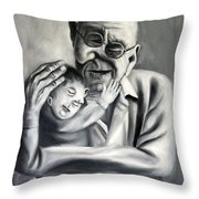 Grandpa Throw Pillow by Anthony Falbo