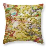GRAPE ABUNDANCE Throw Pillow by PainterArtist FIN