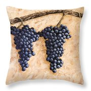 Grape Vine Throw Pillow by Darice Machel McGuire