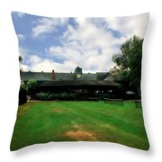 Grass Courts At The Hall Of Fame Throw Pillow by Michelle Calkins