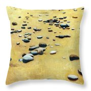 Great Lakes Triptych 2 Throw Pillow by Michelle Calkins