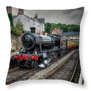 Great Western Locomotive Throw Pillow by Adrian Evans