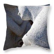 Greek statues Throw Pillow by Antony McAulay