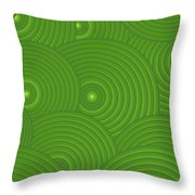 Green Abstract Throw Pillow by Frank Tschakert
