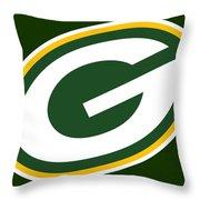 Green Bay Packers Throw Pillow by Tony Rubino
