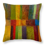Green Eggs And Ham Throw Pillow by Michelle Calkins