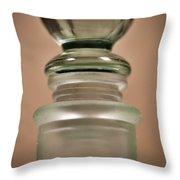 Green Glass Bottle Throw Pillow by Christi Kraft
