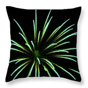 Green Lights Up The Sky Throw Pillow by Cynthia N Couch