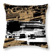Green Monster Throw Pillow by Charlie Brock