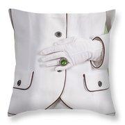 Green Ring Throw Pillow by Joana Kruse