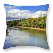 Green River Throw Pillow by Joan McCool