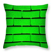 Green Wall Throw Pillow by Semmick Photo
