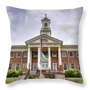 Greeneville Town Hall Throw Pillow by Heather Applegate