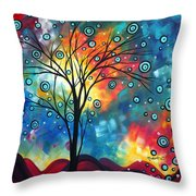 Greeting The Dawn By Madart Throw Pillow by Megan Duncanson