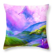 Greeting The Dawn Throw Pillow by Jane Small