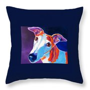 Greyhound - Halle Throw Pillow by Alicia VanNoy Call