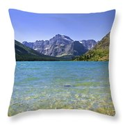 Grinnel Lake Glacier National Park Throw Pillow by Rich Franco