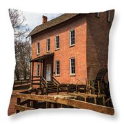 Grist Mill In Hobart Indiana Throw Pillow by Paul Velgos