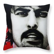 'grohl' Throw Pillow by Christian Chapman Art