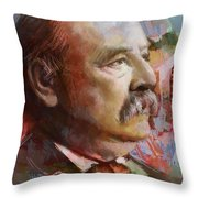 Grover Cleveland Throw Pillow by Corporate Art Task Force