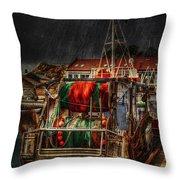 Grunge Art Part Ix - Resting Throw Pillow by Erik Brede